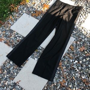 DKNY CITY Black Tuxedo Style Dress Pants